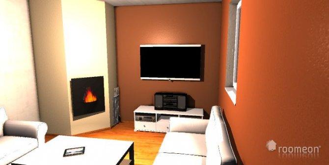 Raumgestaltung variante dunkel in der Kategorie Wohnzimmer