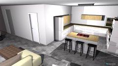 Raumgestaltung Waldbronn Wohn- und Küchenbereich in der Kategorie Wohnzimmer