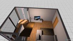 Raumgestaltung Wendeltreppe in der Kategorie Wohnzimmer