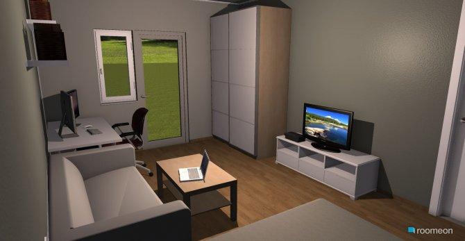 Raumgestaltung WG Zimmer klein in der Kategorie Wohnzimmer