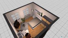 Raumgestaltung WG- Zimmer Version 4 in der Kategorie Wohnzimmer
