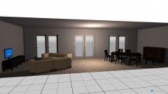 Raumgestaltung Woh- und Esszimmer in der Kategorie Wohnzimmer