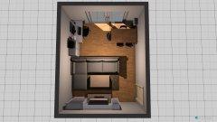 Raumgestaltung Wohn- & Arbeitszimmer in der Kategorie Wohnzimmer