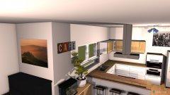 Raumgestaltung Wohn Ess Küche in der Kategorie Wohnzimmer