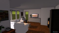 Raumgestaltung Wohn-Ess-Küche in der Kategorie Wohnzimmer