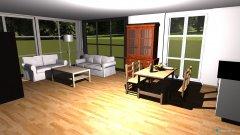 Raumgestaltung Wohn-Eßzimmer Entwurf 01 in der Kategorie Wohnzimmer