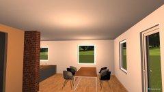 Raumgestaltung Wohn-, Esszimmer, Küche in der Kategorie Wohnzimmer