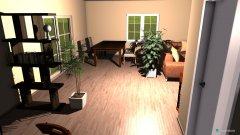 Raumgestaltung Wohn- Esszimmer in der Kategorie Wohnzimmer