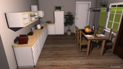 Raumgestaltung Wohn-Esszimmer in der Kategorie Wohnzimmer