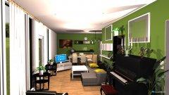 Raumgestaltung Wohn+Esszimmer in der Kategorie Wohnzimmer