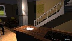 Raumgestaltung Wohn- Koch- Essbereich in der Kategorie Wohnzimmer