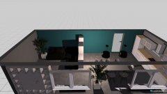 Raumgestaltung Wohn-Küche 3 in der Kategorie Wohnzimmer