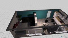 Raumgestaltung Wohn-Küche 4 in der Kategorie Wohnzimmer