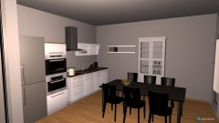 Raumgestaltung Wohn-Küche in der Kategorie Wohnzimmer