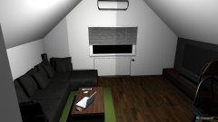 Raumgestaltung Wohn + Schlaf in der Kategorie Wohnzimmer