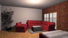 Raumgestaltung Wohn-schlafraum 1og Version 2 in der Kategorie Wohnzimmer