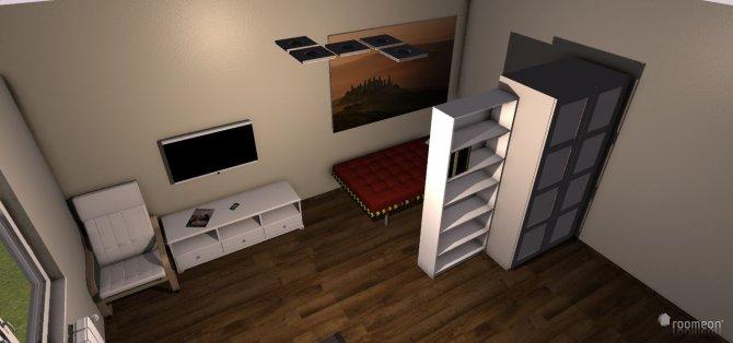 Raumgestaltung Wohn-Schlafzimmer 1 in der Kategorie Wohnzimmer
