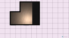Raumgestaltung Wohn Schlafzimmer in der Kategorie Wohnzimmer