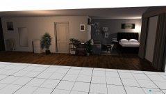 Raumgestaltung Wohn&Schlafzimmer in der Kategorie Wohnzimmer