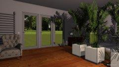 Raumgestaltung Wohn-Schlafzimmer in der Kategorie Wohnzimmer