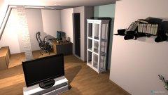 Raumgestaltung Wohn- und Arbeitszimmer in der Kategorie Wohnzimmer