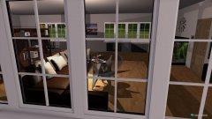 Raumgestaltung Wohn und Arbeitszimmer in der Kategorie Wohnzimmer