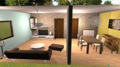 Raumgestaltung wohn und ess in der Kategorie Wohnzimmer