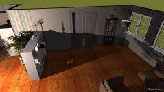 Raumgestaltung Wohn- und Essbereich im Landhausstil in der Kategorie Wohnzimmer