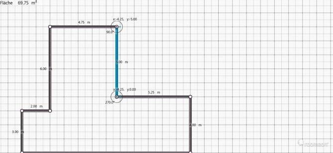 Raumgestaltung Wohn - und esszimmer ( + Küche ) in der Kategorie Wohnzimmer