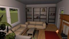 Raumgestaltung Wohn und Esszimmer Martina 2 in der Kategorie Wohnzimmer