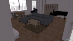 Raumgestaltung Wohn- und Esszimmer in der Kategorie Wohnzimmer