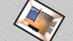 Raumgestaltung Wohn- und Schlafzimmer in der Kategorie Wohnzimmer