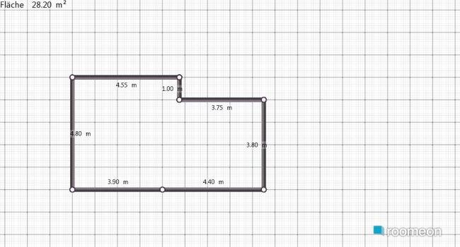 Raumgestaltung Wohnbereich mit offener Küche im Landhausstil in der Kategorie Wohnzimmer