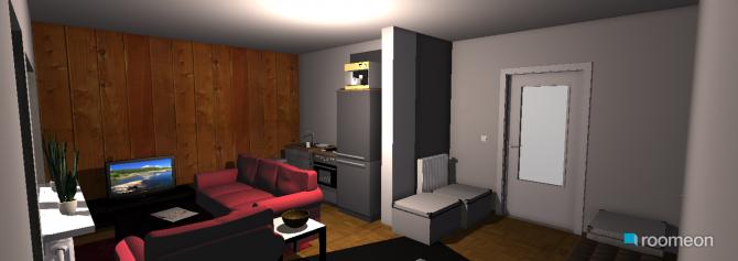 Raumgestaltung wohnen, schlafen, kochen ist in der Kategorie Wohnzimmer