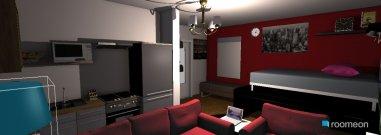 Raumgestaltung wohnen, schlafen, kochen in der Kategorie Wohnzimmer