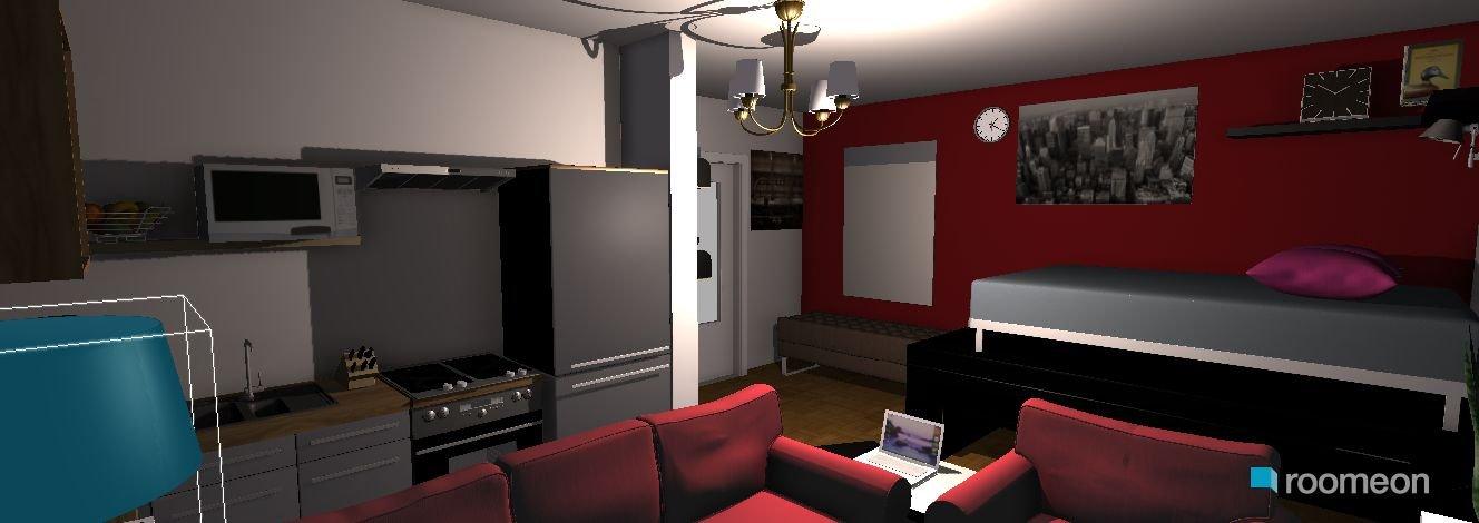 schlafen im wohnzimmer: moderne deckengestaltung u schlaf, Wohnzimmer