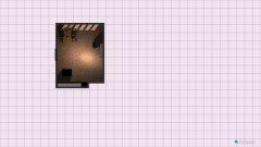 Raumgestaltung Wohnen und Kochen in der Kategorie Wohnzimmer
