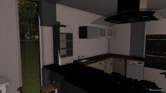 Raumgestaltung Wohnen und Küche in der Kategorie Wohnzimmer