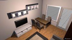 Raumgestaltung Wohnen1 (Couch ggü. Balkon) in der Kategorie Wohnzimmer