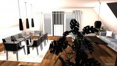 Raumgestaltung WohnEsszimmer in der Kategorie Wohnzimmer