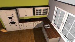 Raumgestaltung Wohnküche 3 in der Kategorie Wohnzimmer