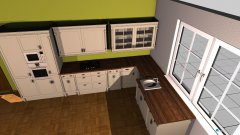 Raumgestaltung Wohnküche 4 in der Kategorie Wohnzimmer