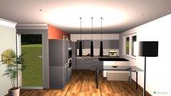 Raumgestaltung Wohnküche EG in der Kategorie Wohnzimmer
