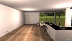 Raumgestaltung Wohnküche in der Kategorie Wohnzimmer
