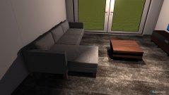 Raumgestaltung Wohnraum-Küche in der Kategorie Wohnzimmer