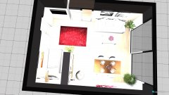 Raumgestaltung Wohnschlafzimmer in der Kategorie Wohnzimmer