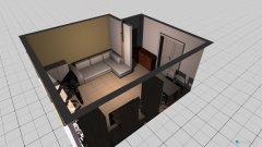 Raumgestaltung Wohnstube mit Motorrad in der Kategorie Wohnzimmer