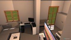 Raumgestaltung Wohnung Bremen final mit Einrichtung in der Kategorie Wohnzimmer