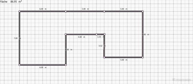 Raumgestaltung Wohnung in der Innenstadt in der Kategorie Wohnzimmer