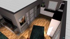 Raumgestaltung Wohnung nach Umbau 1 - Küche - Variante 2 mit neuer tür küche in der Kategorie Wohnzimmer